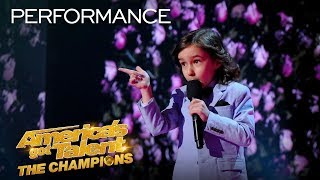 OMG! 7-Year-Old JJ Pantano ROASTS The AGT: Champions Judges! - America's Got Talent: The Champions thumbnail