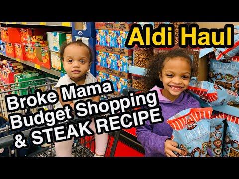 Broke Mama Budget ALDI HAUL + SUPER EASY STEAK RECIPE 12/5/19