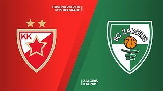 Crvena Zvezda mts Belgrade - Zalgiris Kaunas Highlights | Turkish Airlines EuroLeague, RS Round 19