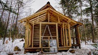 Building a New Room on My Off Grid Log Cabin Alone – Budowanie nowego pokoju w samotnej chatce