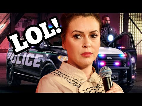 Alyssa Milano quick to call police after pushing to defund them! Another Hollywood hypocrite!