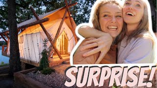SURPRISING GIRLFRIEND WITH GLAMPING TRIP *EMOTIONAL*