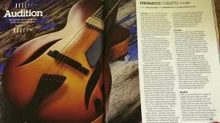 FIBONACCI CHIQUITA - GUITARIST MAGAZINE REVIEW, OCT '17, ISSUE No: 425