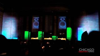 3D Projection Mapping - Colorful Music Equalizer Bars Effect