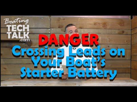 Dangers of Crossing Leads on My Starter Battery?