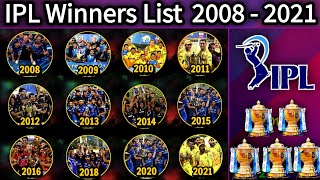 IPL Winner & Runners-Up List 2008 to 2020 | Indian Premier League (IPL) All Seasons Champion Team