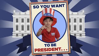 So You Want to be President   Kid Reporter Siroos Pasdar for Scholastic News