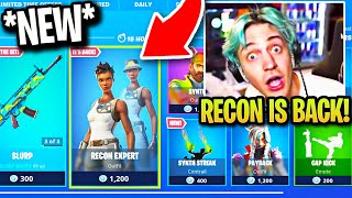 STREAMERS BUY RECON EXPERT *BACK* in ITEM SHOP! NEW EDIT STYLE! (RAREST SKIN in FORTNITE RETURNS!)