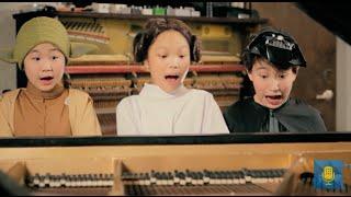 Yoda, Princess Leia & Darth Vader Sit Down at a Piano   From the Top Star Wars Mashup