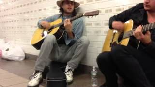 Jared Leto playing The Kill in an NYC subway station.