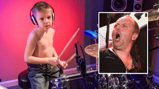 MASTER OF PUPPETS (6 year old Drummer) Drum Cover by Avery Drummer Molek
