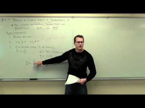 Statistics Lecture 8.3 Part 1