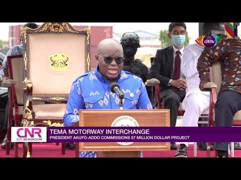 Nana Akufo-Addo commissions $57 million Tema Motorway Interchange