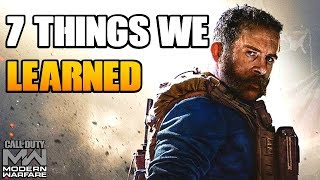 7 Things We Learned About Call of Duty Modern Warfare | CoD MW 2019