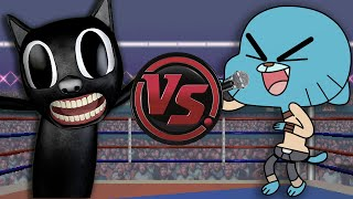 CARTOON CAT vs GUMBALL WATTERSON RAP! (Gumball vs Cartoon Cat Animation) | CARTOON RAP ATTACK