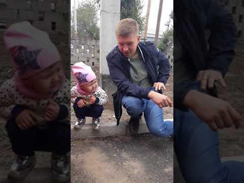 Приколы про  детей! Папа и дочка. Милое, смешное видео.