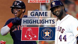 Boston Red Sox vs. Houston Astros Highlights   ALCS Game 6 (2021)