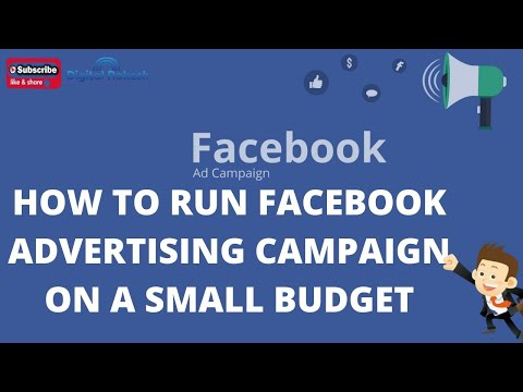 How to Run Facebook Advertising campaign on a small budget 2020