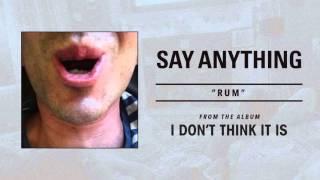 "Say Anything ""Rum"" - FULL ALBUM STREAM"