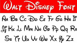 Learn To Write Disney Letters | Disney Fonts Calligraphy