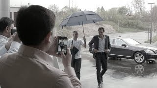 Imagine Roger Federer Visiting You At Work