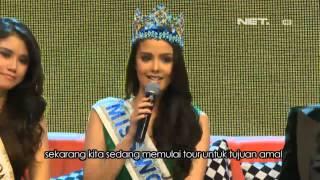 Entertainment News-Miss World 2013 Megan Young Berkunjung ke Indonesia
