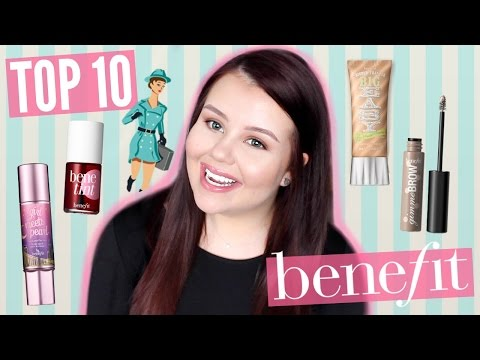 TOP 10 PRODUCTS FROM BENEFIT! | SariReanna