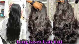 How to Long layer Hair cut/easy way/Step by step/Hair cut Tutorial/layer with step/advanced hair cut