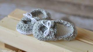 Baby Boat Shoe Booties Crochet Pattern