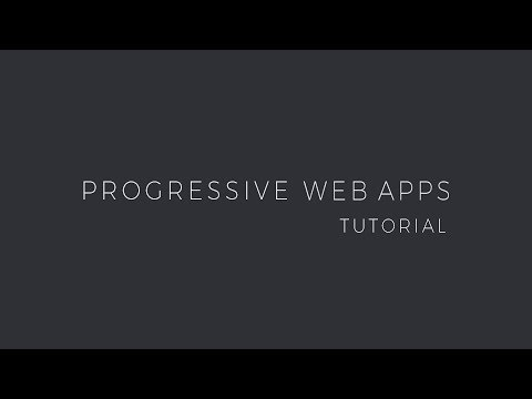 Progressive Web App tutorial ? learn to build a PWA from scratch
