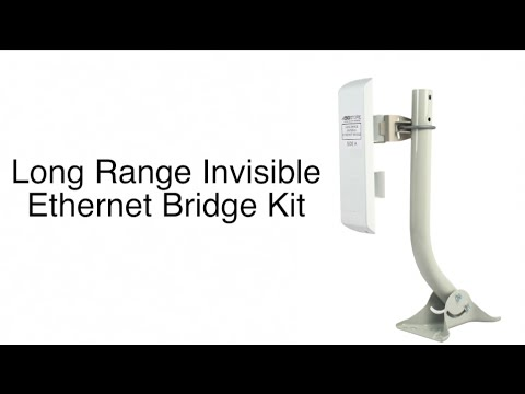 Long Range Invisible Ethernet Bridge Kit Demonstration