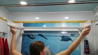 Настінна сушарка для білизни Leifheit Telegant Plus 100 (83100) від компанії Інтернет-магазин EconomPokupka.com.ua - відео 2