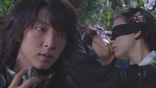 Lee Jun Ki ♥ Han Hyo Joo, Sweet Blind Kiss|이준기, 한효주 눈 가리고 '키스' @일지매 15회 20080709