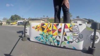Excellent Freeride Drop thru Longboard also Long Distance Pushing performance