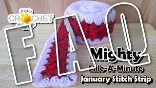 FAQ - Mighty Mile-A-Minute Calendar Blanket 2021 - Crochet Party LIVE STREAM