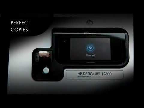 HP Designjet T2300 eMFP Touchscreen overview