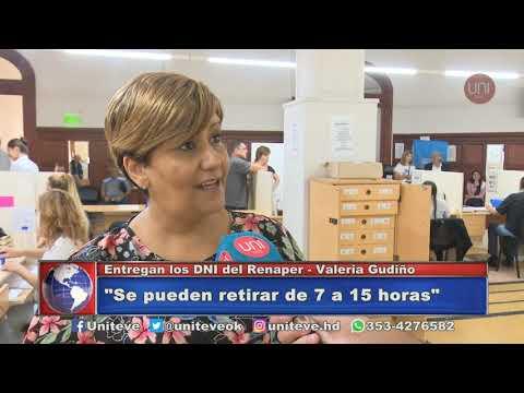 Retiro de DNI del Renaper (Valeria Gudiño, Titular de Registro Civil)