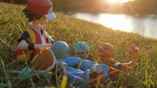 "Pokémon Figure Review: Figma Red ""Finding Your Way"" Charmander, Bulbasaur, and Squirtle figure Ep. 5"