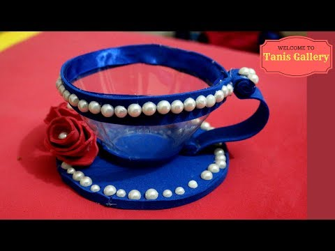 Download How to Make a Tea Cup with Plastic Bottles    Easy crafts from a plastic bottle Mp4 HD Video and MP3