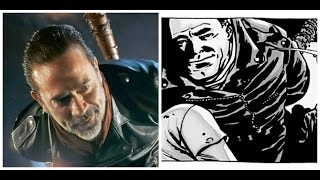Glenn Death Comparison - Walking Dead TV Show VS Comic Book (Negan