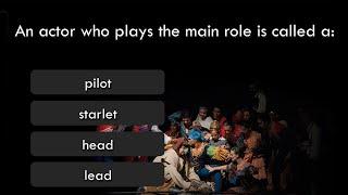 Vocabulary Quiz - Theatre Terms