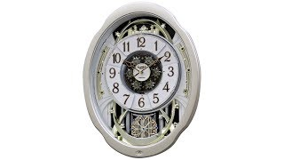 "Marvelous Aluminum 20 3/4"" High Motion Wall Clock"