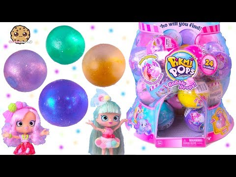 Pikmi Pops Bubble Drops Surprise Blind Bag Balls with Shopkins Shoppies ! (видео)