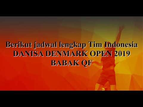 HASIL BABAK 16 BESAR + JADWAL QF    DANISA DENMARK OPEN 2019