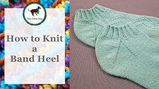 How to Knit a Band Heel for Socks