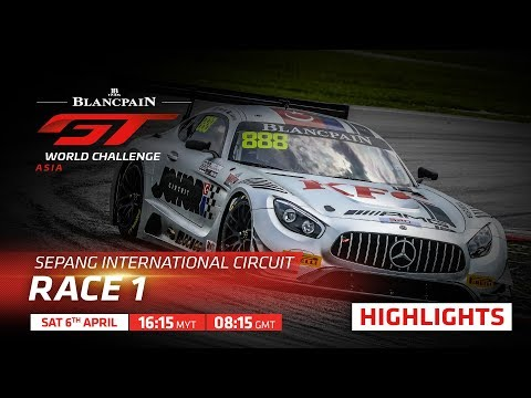 Race 1 - Short Highlights  Sepang 2019 - Blancpain GT World Challenge Asia