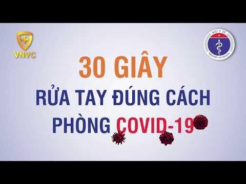 6 BƯỚC RỬA TAY BẰNG XÀ PHÒNG ĐÚNG CÁCH PHÒNG CHỐNG COVID-19
