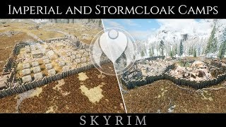 IMPERIAL AND STORMCLOAK MILITARY CAMPS | Skyrim SE Ultra ENB Graphics