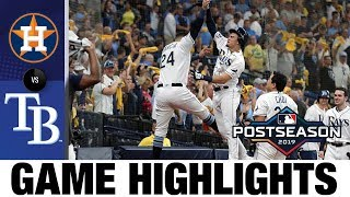 Rays' big 1st inning leads to Game 4 win vs. Astros | Rays-Astros ALDS Game Highlights