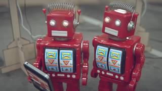 Классный прикольный мультфильм про роботов пародирующих нашу жизнь. Рекомендую!!!